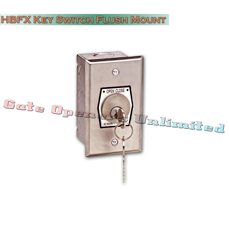 MMTC HBFX Exterior Open-Close Key Switch In Single Gang Back Box ...