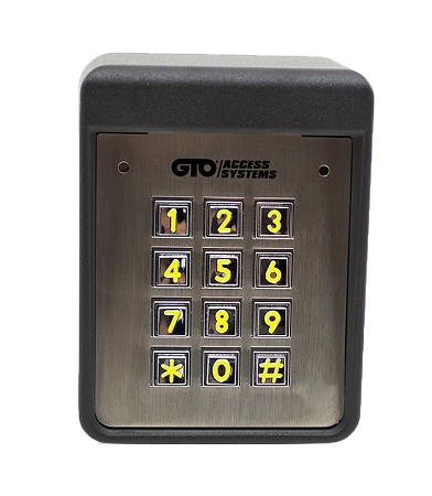 gto keypad f320 gto heavy duty wired keypad used on residential commercial gate system. Black Bedroom Furniture Sets. Home Design Ideas