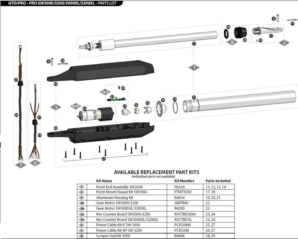 Gto Sw3000 Parts R4200 Gear Motor Sw3000xl 3200xl 4000xl