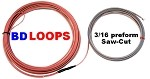 BD Loops - Exit Loop  - 4' X 6'  or  3' x 7' Saw Cut Performed Loops with 50' Lead