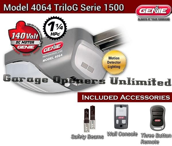 Genie 4064 7 37045s Dc Screw Drive Garage Opener 7 Door