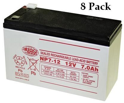 GTO RB500-8PK Battery - 12 Volt -  7.0 Amp Hr. Pkg. Of (8)