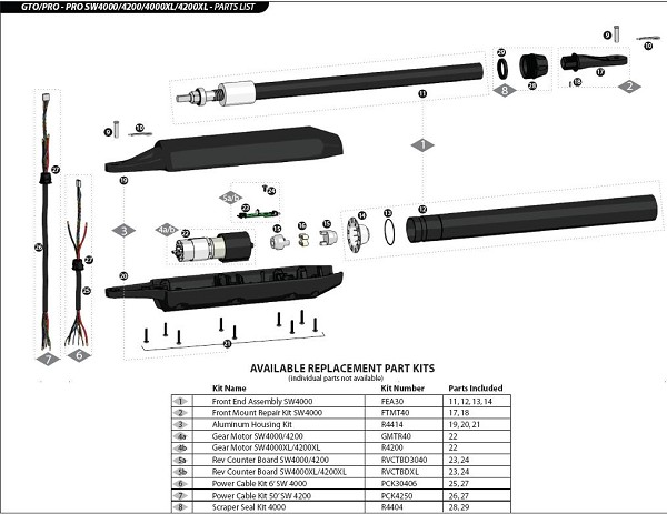GTO SW4000 Parts - R4KPOST Bracket - Post (SW4000XL and 4200XL)
