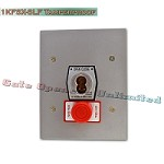 MMTC 1KFSX-SLF Exterior Tamperproof Open-Close S Type Large Format Key Switch With Stop Button Flush Mount