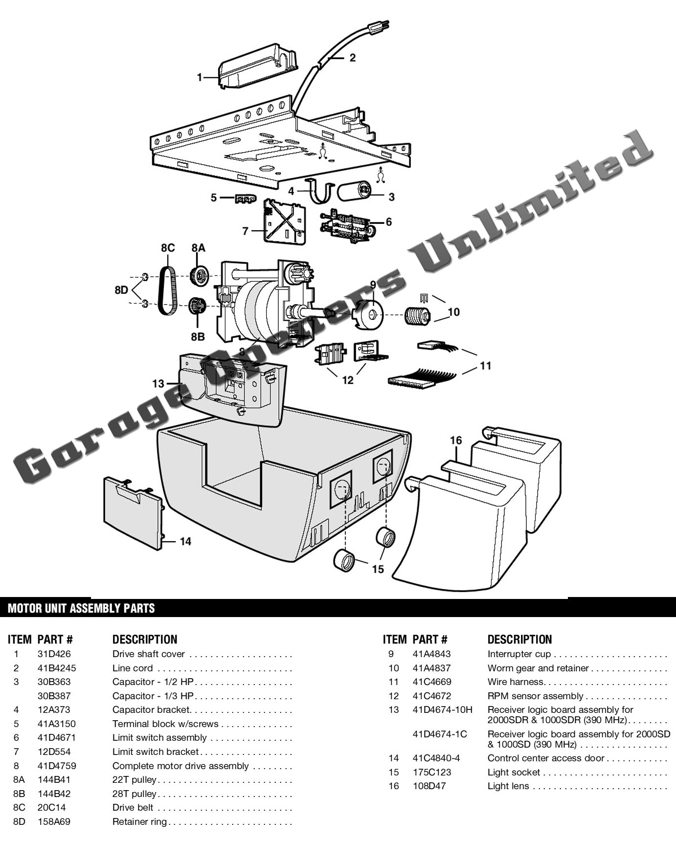 liftmaster professional spare parts