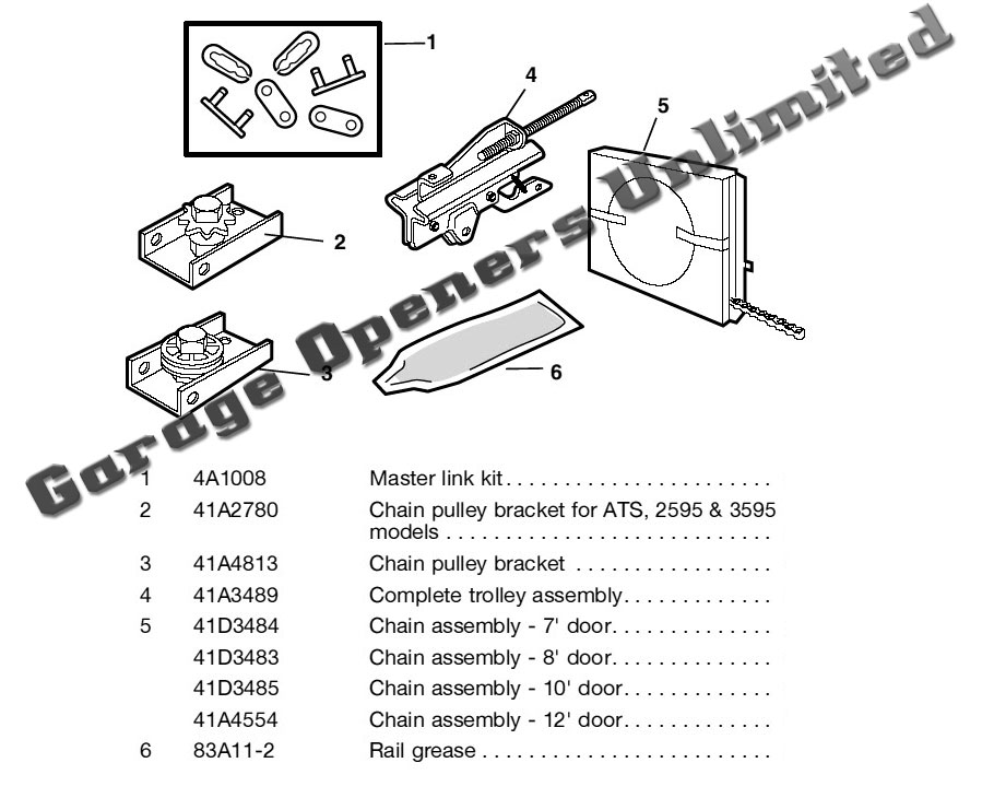 Chain Drive Assembly Parts Liftmaster Replacement Modules