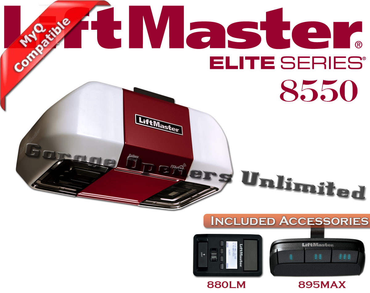 Liftmaster 8550 - Elite Series 8550 DC Battery Backup Belt Drive w/8ft Rail  sc 1 st  Garage Openers Unlimited & Liftmaster 8550 - Elite Series 8550 DC Battery Backup Belt Drive w ...