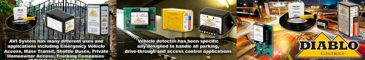 Diablo Controls Loop Detectors, Diablo Vehicle Loop Detector, Exit on