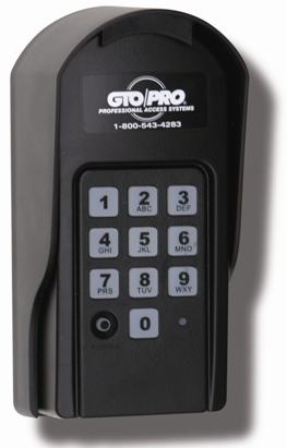 Gto F310 Wireless Keypad Or Gto F310 Wired Keypad Gate