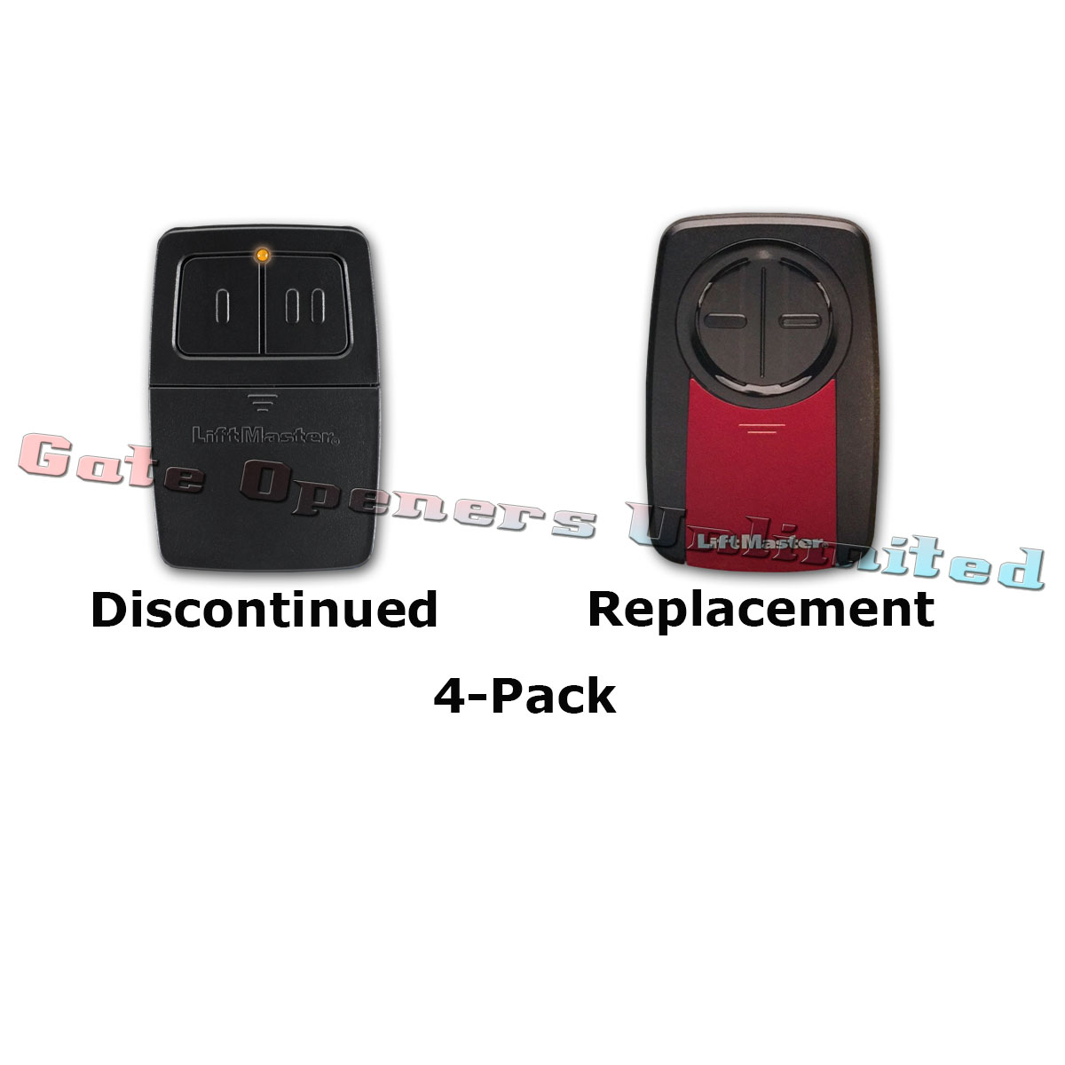 Liftmaster 375LM 4 Pack Universal 2 Button Remote Control