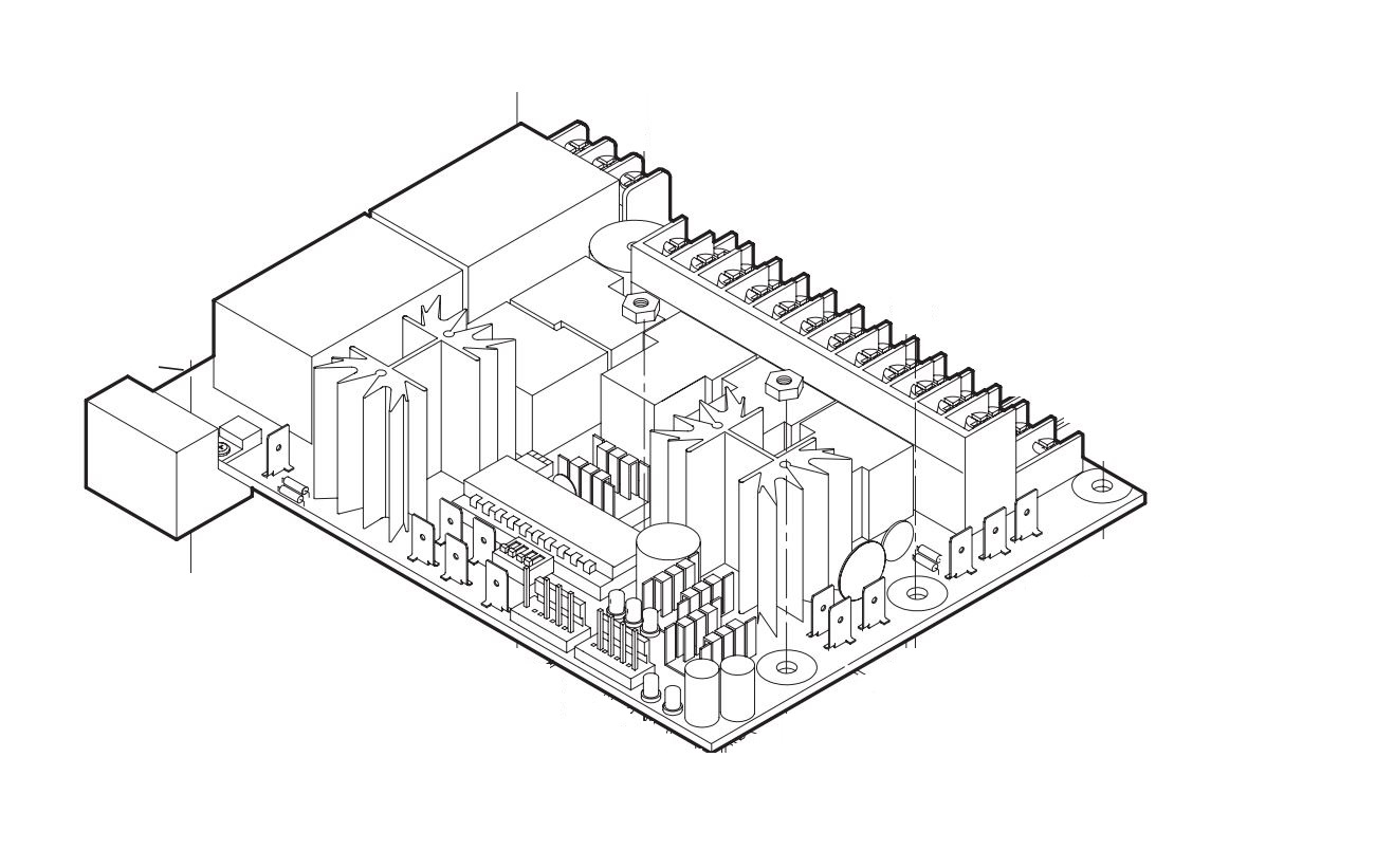 Liftmaster K79 13493 500 Logic Control Board Assembly Replacement Kit Diagram