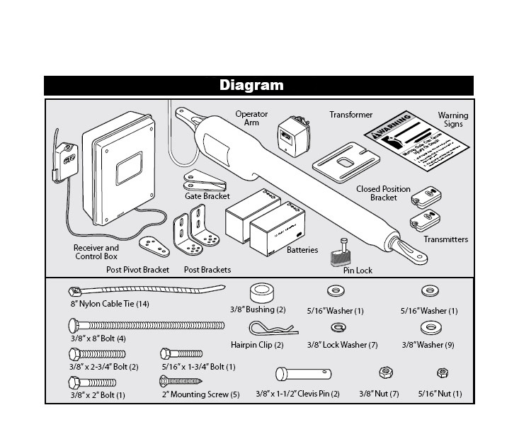 Mighty Mule FM362-D Installation Parts Diagram