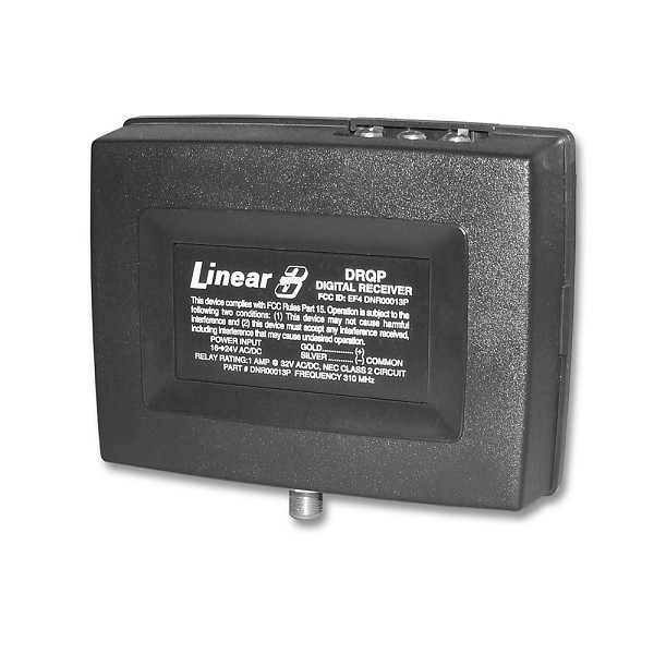 Linear DNR00013P / DRQP 1-Channel Gate Receiver Remote w/ 9-inch Local Antenna