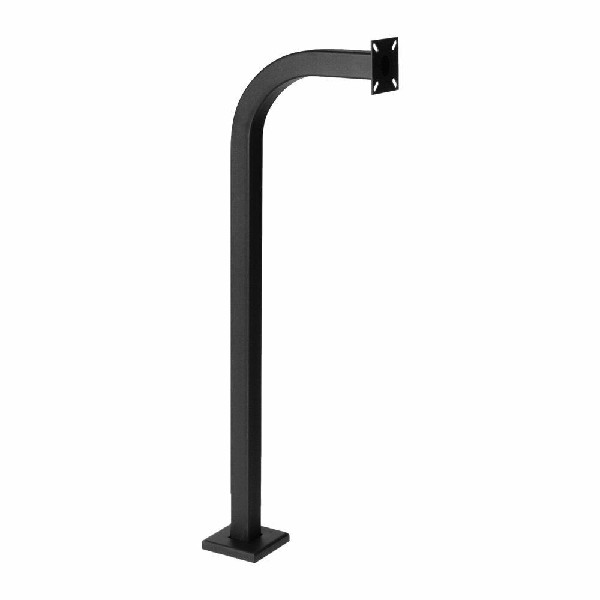 "Gooseneck Stand - Keypad Pedestal - Pad Mount - 42"" Height - Black"