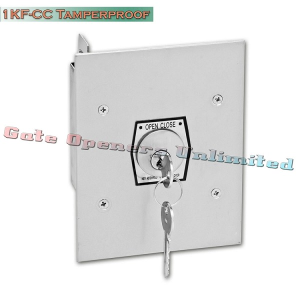 MMTC 1KF-CC Nema 1 Interior Tamperproof Open-Close Changeable Core Cylinder Key Switch Flush Mount