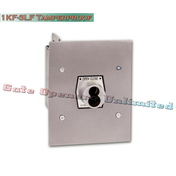 MMTC 1KF-SLF Nema 1 Interior Tamperproof Open-Close S Type Large Format Cylinder Key Switch Flush Mount