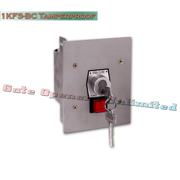 MMTC 1KFS-BC Nema 1 Interior Tamperproof Open-Close Best Cylinder Or Equivalent Key Switch With Stop Button Flush Mount