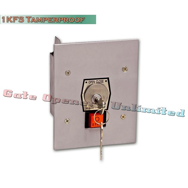 MMTC 1KFS Nema 1 Interior Tamperproof Open-Close Key Switch With Stop Button Flush Mount