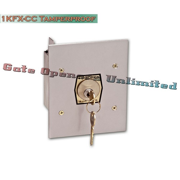 MMTC 1KFX-CC Exterior Tamperproof Open-Close Changeable Core Cylinder Key Switch Flush Mount