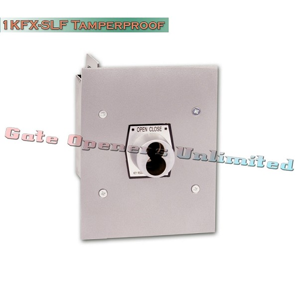 MMTC 1KFX-SLF Exterior Tamperproof Open-Close S Type Large Format Cylinder Key Switch Flush Mount