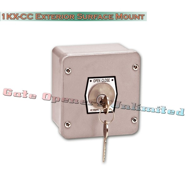 MMTC 1KX-CC Nema 4 Exterior Tamperproof Open-Close Changeable Core Cylinder Key Switch Surface Mount