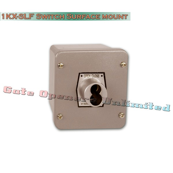 MMTC 1KX-SLF Nema 4 Exterior Tamperproof Open-Close S Type Large Format Cylinder Key Switch Surface Mount