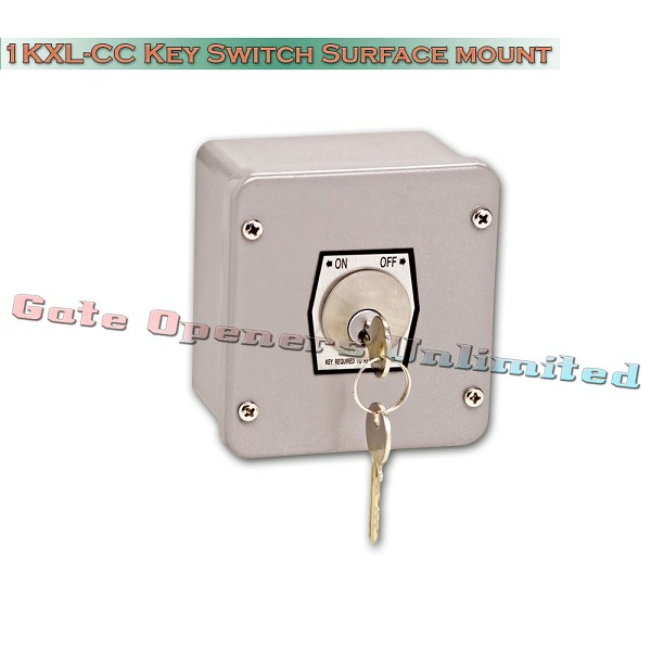 MMTC 1KXL-CC Nema 4 Exterior On-Off Changeable Core Cylinder Key Switch Surface Mount