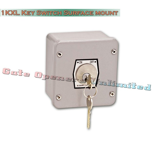 MMTC 1KXL Nema 4 Exterior On-Off Key Switch Surface Mount