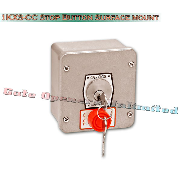 MMTC 1KXS-CC Nema 4 Exterior Tamperproof Open-Close Best Cylinder Or Equivalent Key Switch With Stop Button Surface Mount