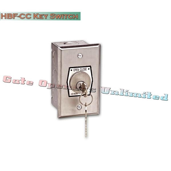 MMTC HBF-CC Nema 1 Interior Open-Close Changeable Core Cylinder Key Switch In Single Gang Back Box Flush Mount