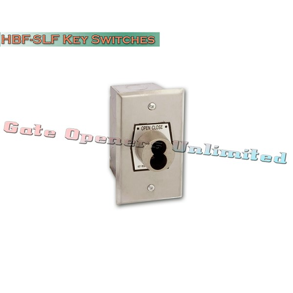 MMTC HBF-SLF Nema 1 Interior Open-Close S-Type Large Format Key Switch In Single Gang Back Box Flush Mount