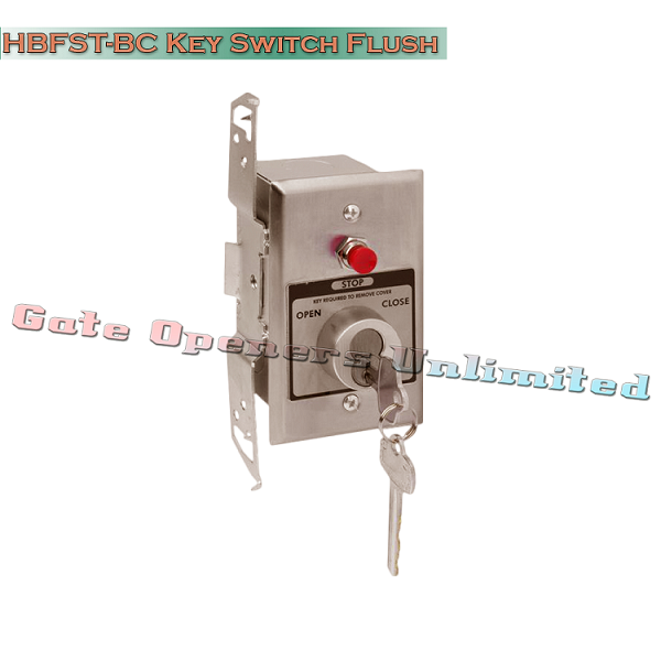 MMTC HBFST-BC Nema 1 Interior Tamperproof Open-Close Best Cylinder Or Equivalent Key Switch With Stop Button In Single Gang Back Box Flush Mount