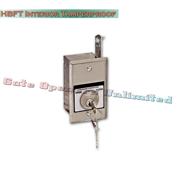 MMTC HBFT Nema 1 Interior Tamperproof Open-Close Key Switch In Single Gang Back Box Flush Mount