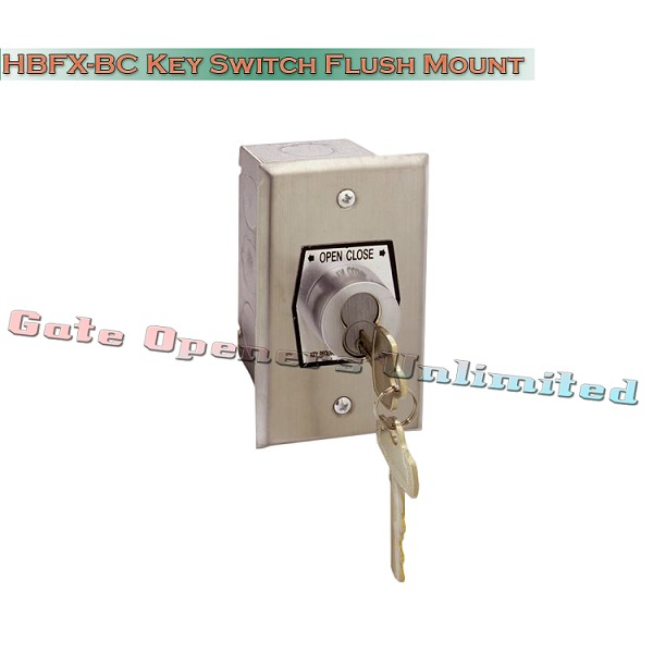MMTC HBFX-BC Exterior Open-Close Best Cylinder Or Equivalent Key Switch In Single Gang Back Box Flush Mount