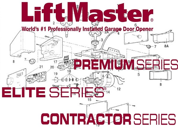 Liftmaster 20-2LM 2 Strand Bell Wire Control Panel Rd/Wht