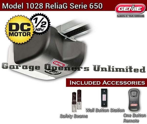 Genie 1028 Reliag Dc Belt Garage Opener 8 Door Rail