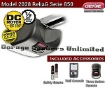 Genie ReliaG Garage Opener - Genie 2028  DC Chain Drive Garage Door Operator - 38480S Head Only