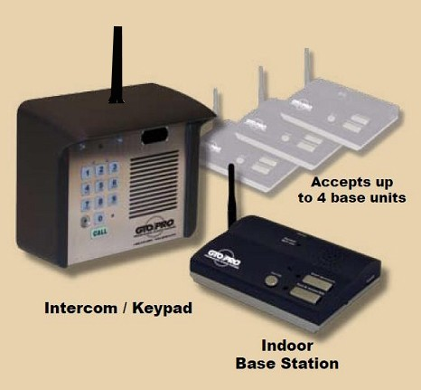 Linear Pro Access F4100MBC (NEW F3100MBC) Estate Series Digital Keypad / Intercom System (Wireless Only) Kit