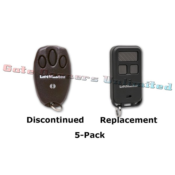 Liftmaster 970LM 5-Pack Security+ Mini 3-Button Remote Replaced by 890MAX 3-Button