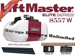 Liftmaster 8557W - Elite Series 3/4 HP AC Wi-Fi Belt Drive for 10ft Doors - Includes Rail