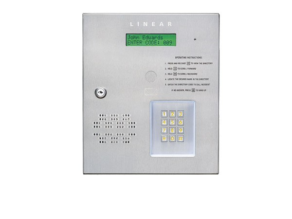 Linear AE-500, ACP00899 Commercial Telephone Entry System 2 Gates/Doors
