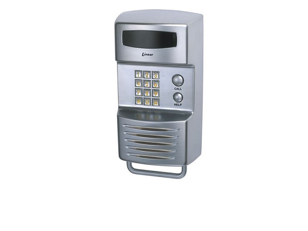 Linear RE-1S, ACP00896S Residential Telephone Entry System Steel Finish Intercom