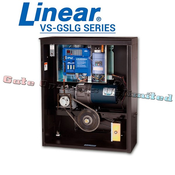 Linear Pro Access VS-GSLG Series - Slide Gate Opener 208V Three Phase 1/2 HP 45ft 1100 lbs Industrial Variable Speed Slide Gate Operator