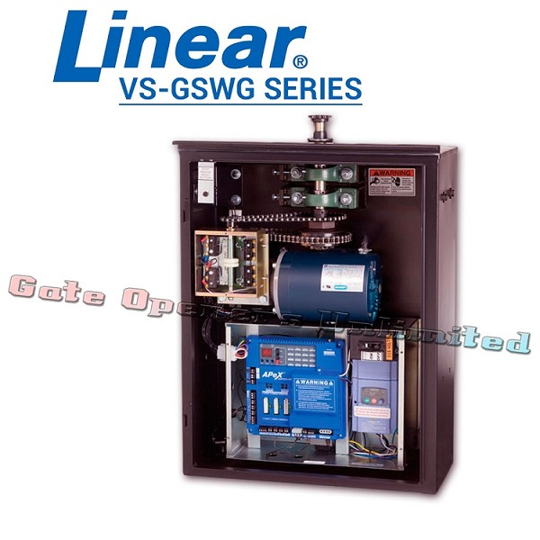 Linear Pro Access VS-GSWG Series - Swing Gate Opener 230V Single Phase 36ft 1500 lbs 2 HP Industrial Variable Speed Swing Gate Operator