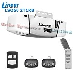 Linear LSO50-2T1KB 7ft Rail Belt 1/2 Dual-lamp Premium HP Garage Opener