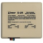 Linear SNR00009A, D-2R 12/24V SD Receiver, 2-Channel 303.875MHz Security Sytems