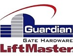 Guardian 2015.200  Heavy-Duty Hinge - Flat to Gate, Round to Post (Zinc Plated)  - Liftmaster 2015Z